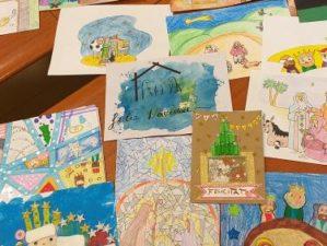 muestra tarjetas de navidad